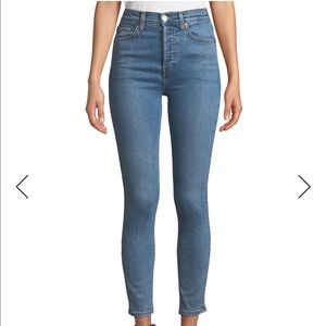 RE/DONE High-Rise Ankle Crop Ultra Stretch jeans